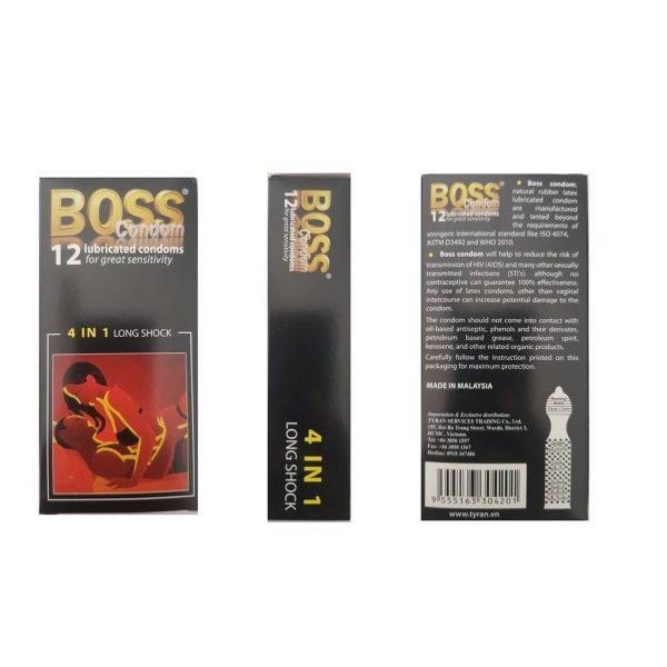 Bao cao su Boss 4in1 long sock (