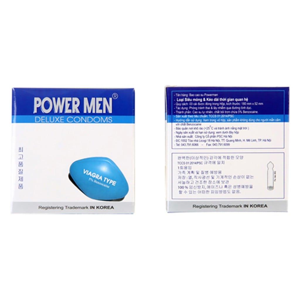 Bao cao su Power men Viagra kéo dài