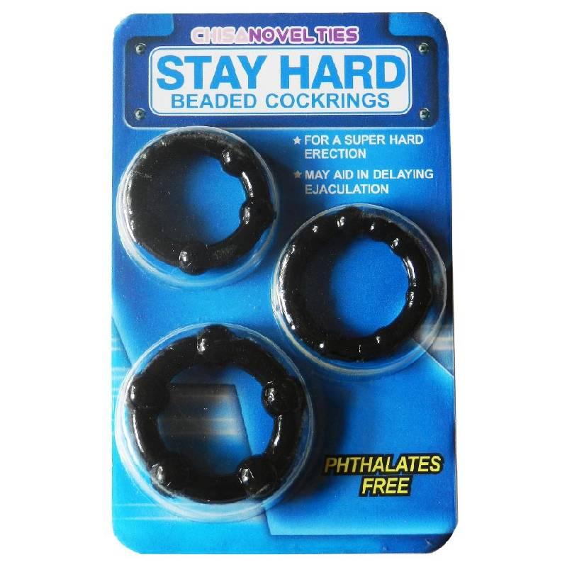 Bộ 3 vòng đeo Stay Hard chống xuất tinh sớm