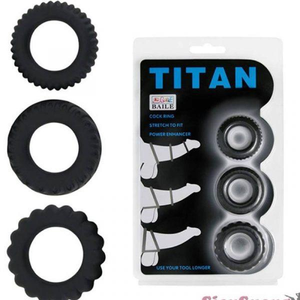 Bộ 3 vòng đeo titan chống xuất tinh sớm