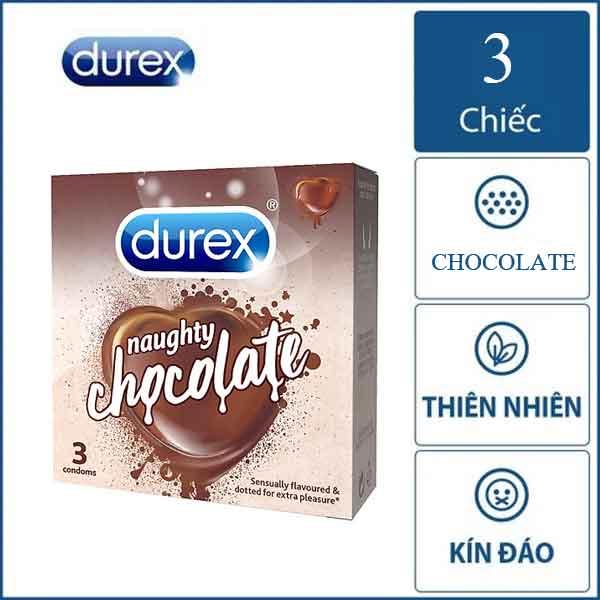 Bao cao su Durex hương Chocolate hộp 3 chiếc