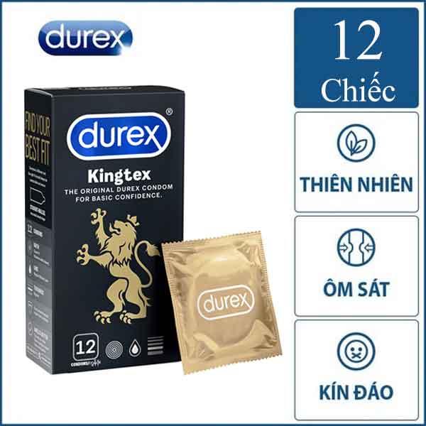 Bao cao su Durex kingtex hộp 12 chiếc