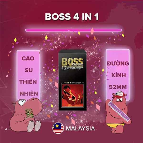 Bao cao su kéo dài quan hệ Boss