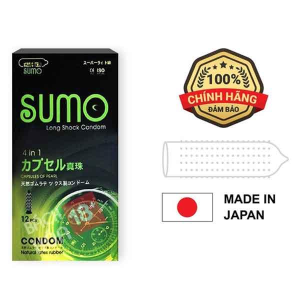 Bao cao su gân gai chống xuất tinh sớm Sumo 4in1 nhật bản