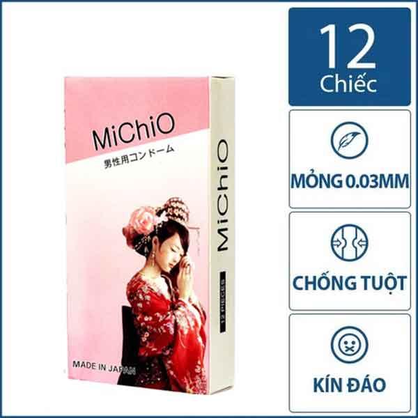 Bao cao su MichiO siêu mỏng nhật bản hộp 12 chiếc