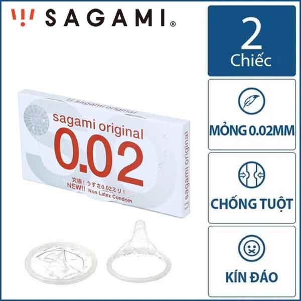 Bao cao su Sagami original 0.02mm