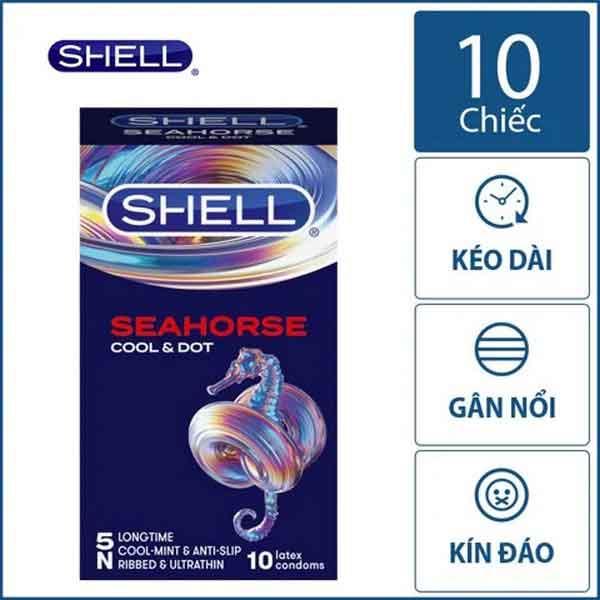 Bao cao su Shell SeaHorse Cool & Dot