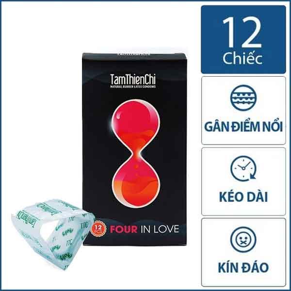 Bao cao su Tâm Thiện Chí Four in love 4in1