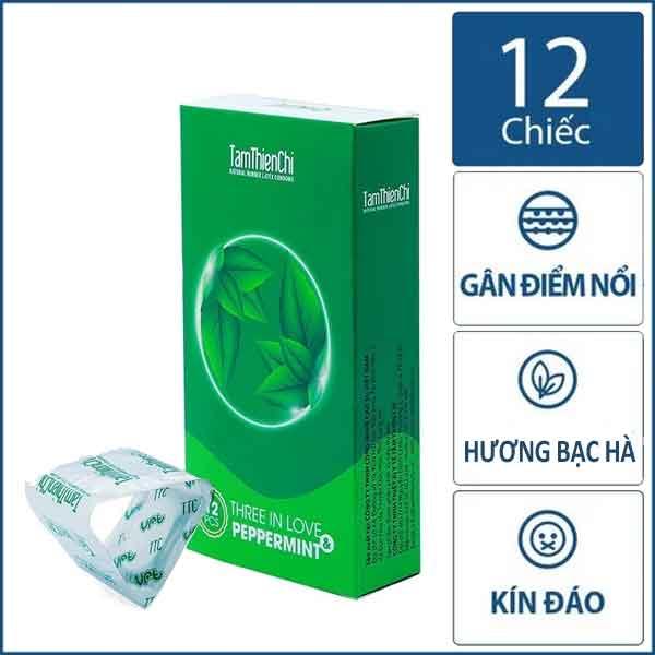 Bao cao su Tâm Thiện Chí Three in love 3in1