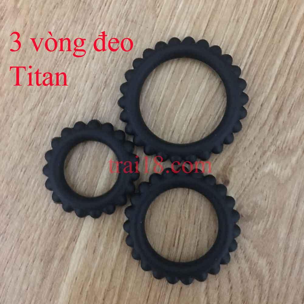 bo 3 vòng đeo titan giúp chống xuất tinh sớm hiệu quả