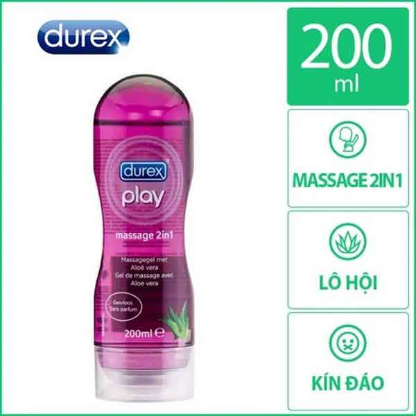 Gôi bôi trơn Durex play massage 2in1 200ml