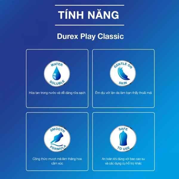 Tính năng của gel bôi trơn Durex classic 50ml