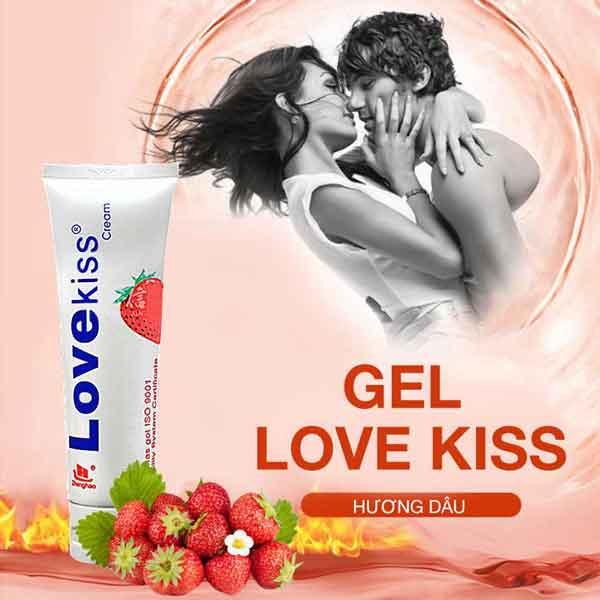 Gel bôi trơn Love kiss Hương dâu thơm
