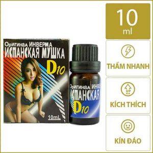 Nước kích dục nữ D10 kích thích mạnh