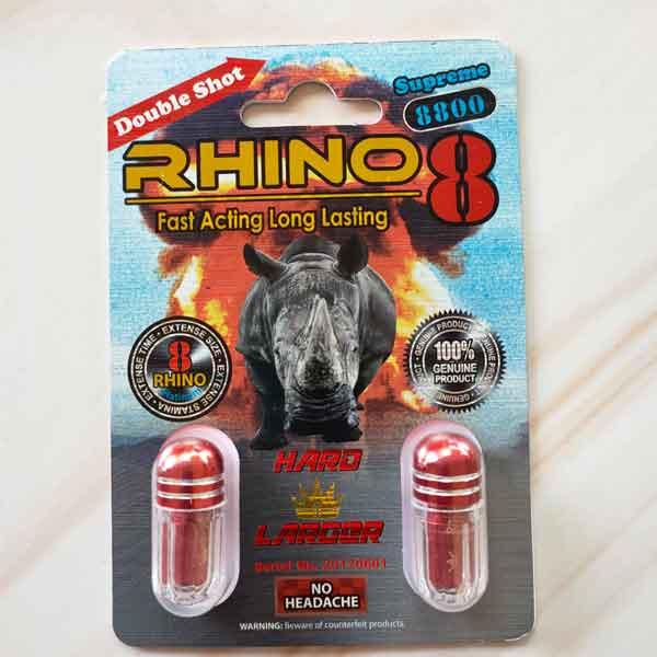 Thảo dược cường dương Rhino 8 vỉ 2 vien