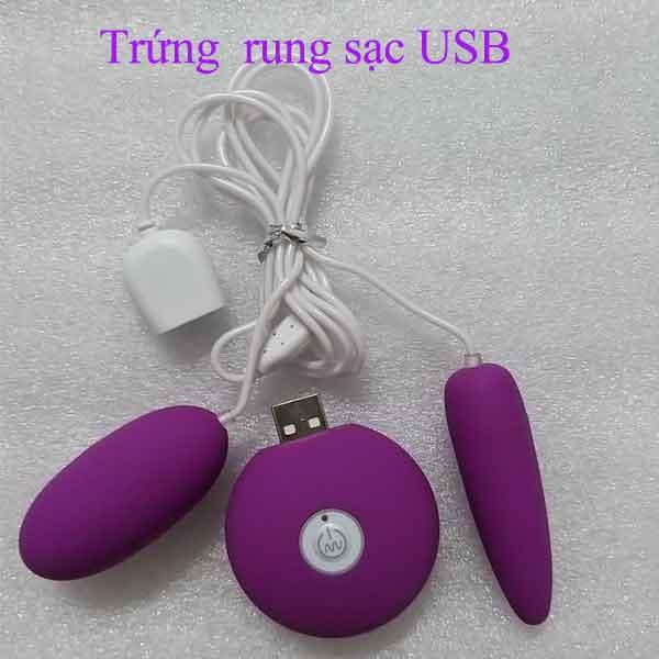 Trứng rung sạc USB tích điện