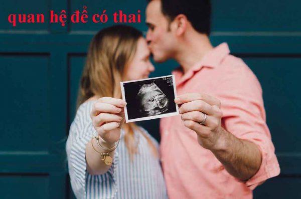 Cách để có thai chính là nhờ quan hệ tình dục giữa Nam và Nữ