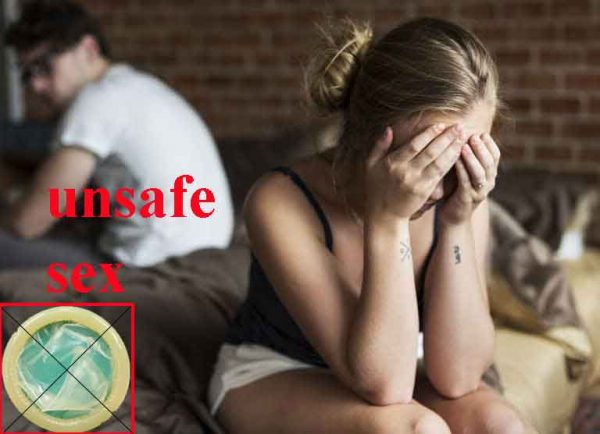 Quan hệ tình dục không an toàn là không có biện pháp bảo vệ gì cho bản thân