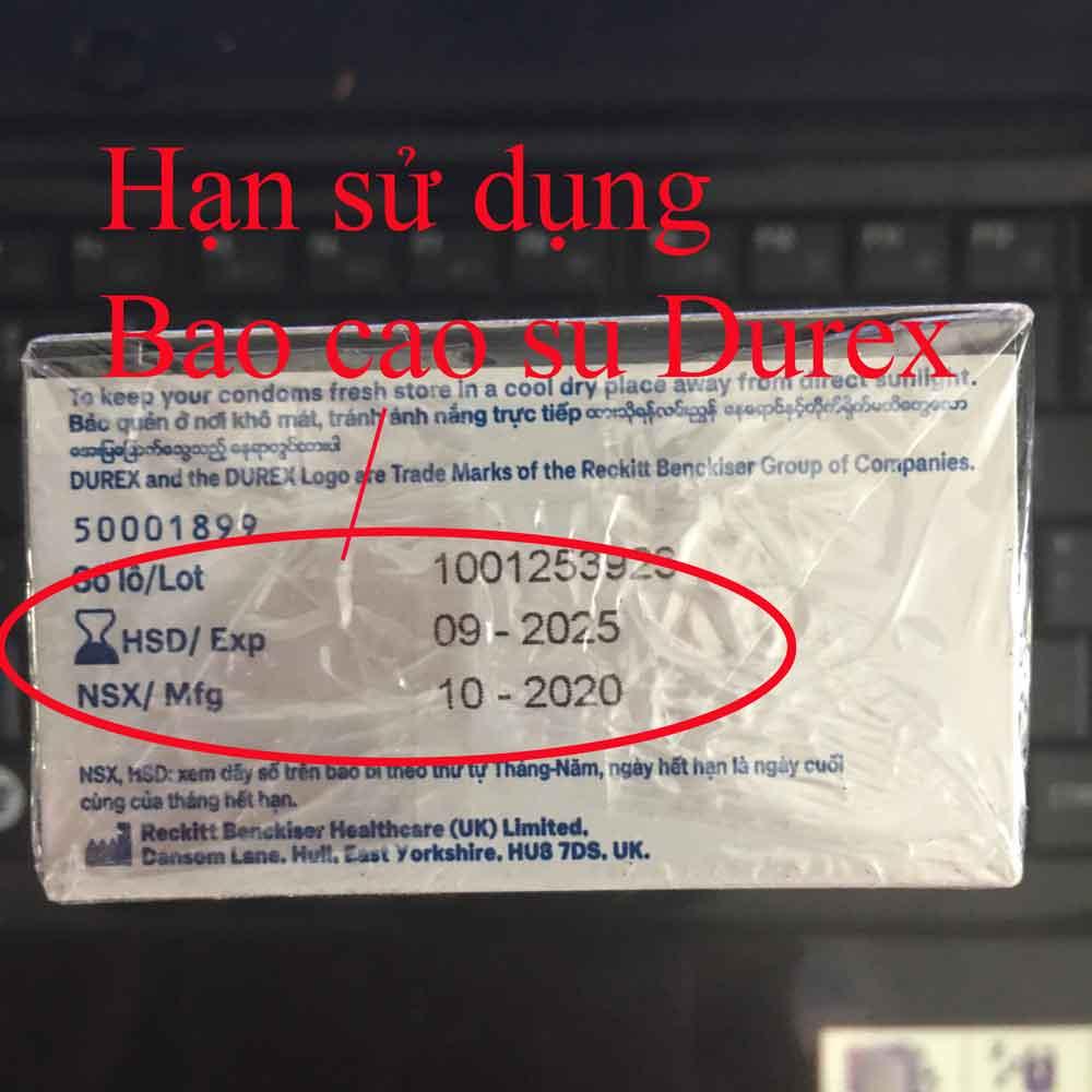 Hạn sử dụng Bao cao su durex