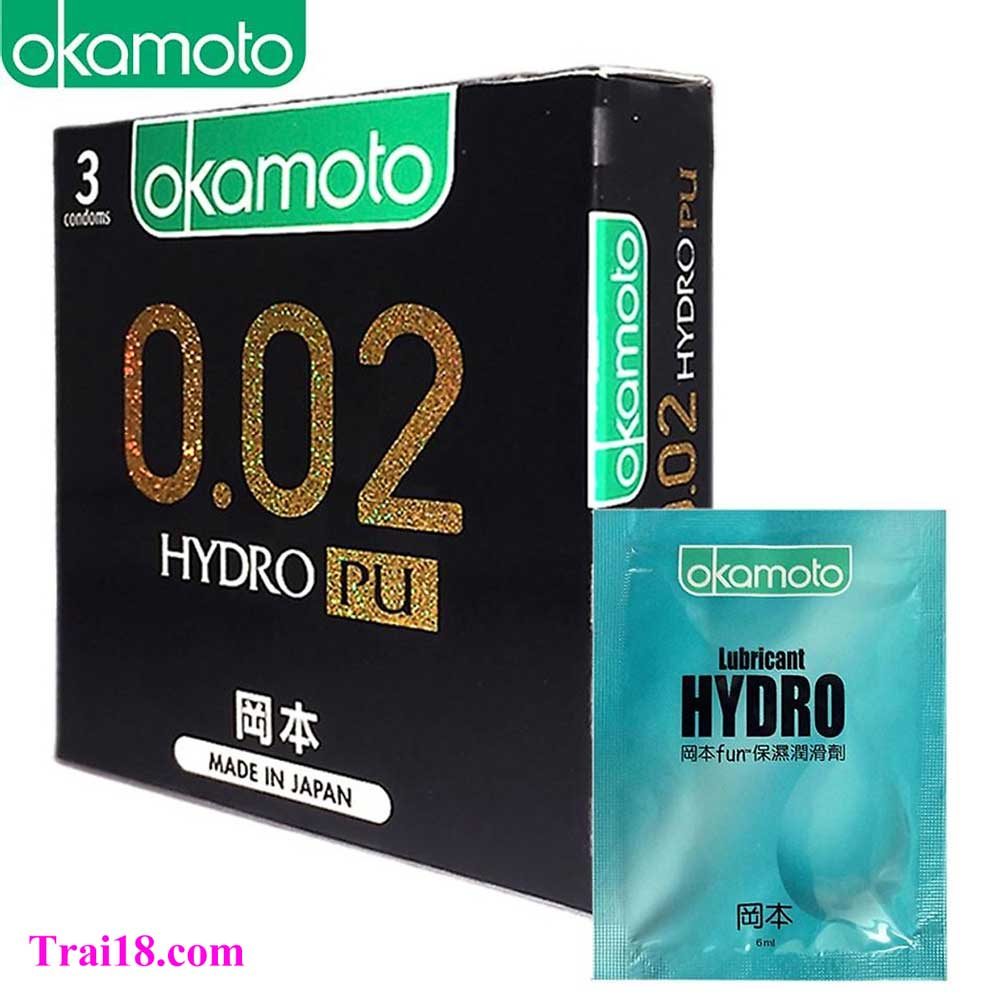 Bao cao su Okamoto 0.02mm HyRO PU