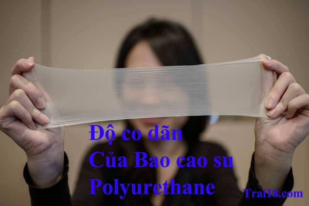 Bao cao su từ chất liệu polyurethane