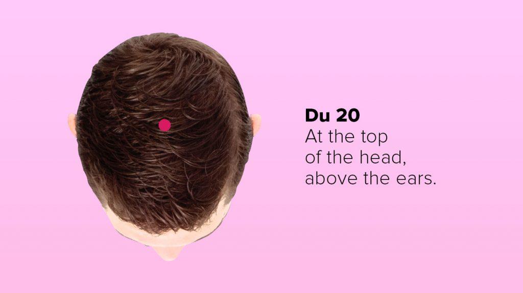 Massage đầu, tập trung vào DU20