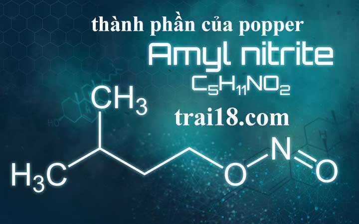 Amyl nitrite thành phần chính của popper